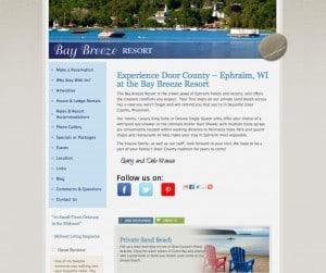 Bay Breeze Resort - Ephraim resort, Door County, WI