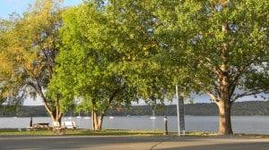 Ephraim Shores waterfront before a summer storm. Door COUnty Wisconsin, resorts, Door County Resorts