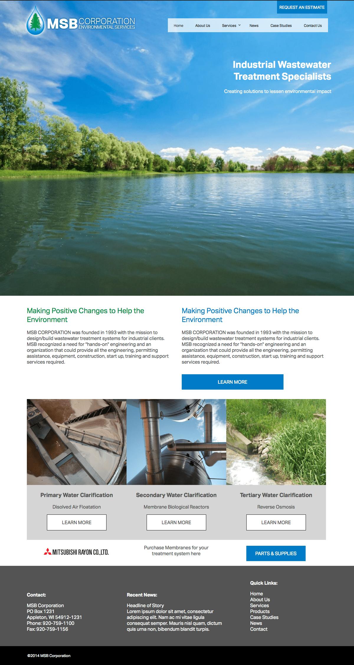 MSB Environmental Corp. announces new website