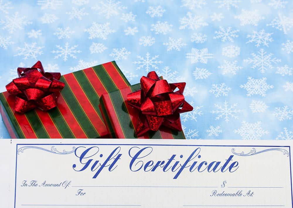 Need a Gift Idea? Try a Gift Certificate to Ephraim Shores