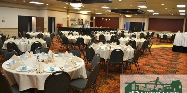 wedding reception places Green Bay District Event Center