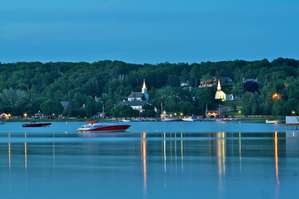 Take in a Classic Door County Lake View Sunset at Bay Breeze Resort