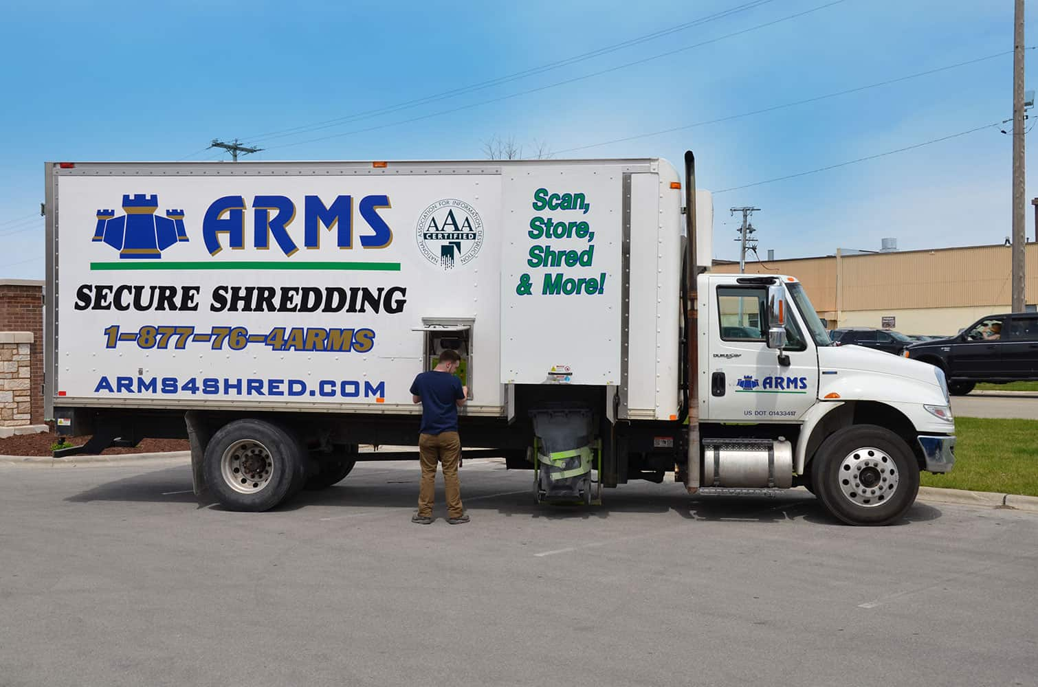 Secure the Destruction of your Documents with ARMS Mobile Shredding