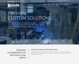 Badger Sheet Metal Works Unveils New Website That Details Company's Range of Capabilities