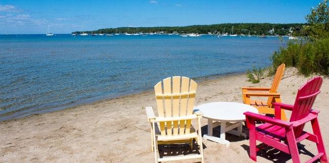 Door County beach resort