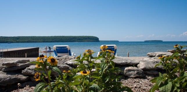 waterfront lodging in Door County
