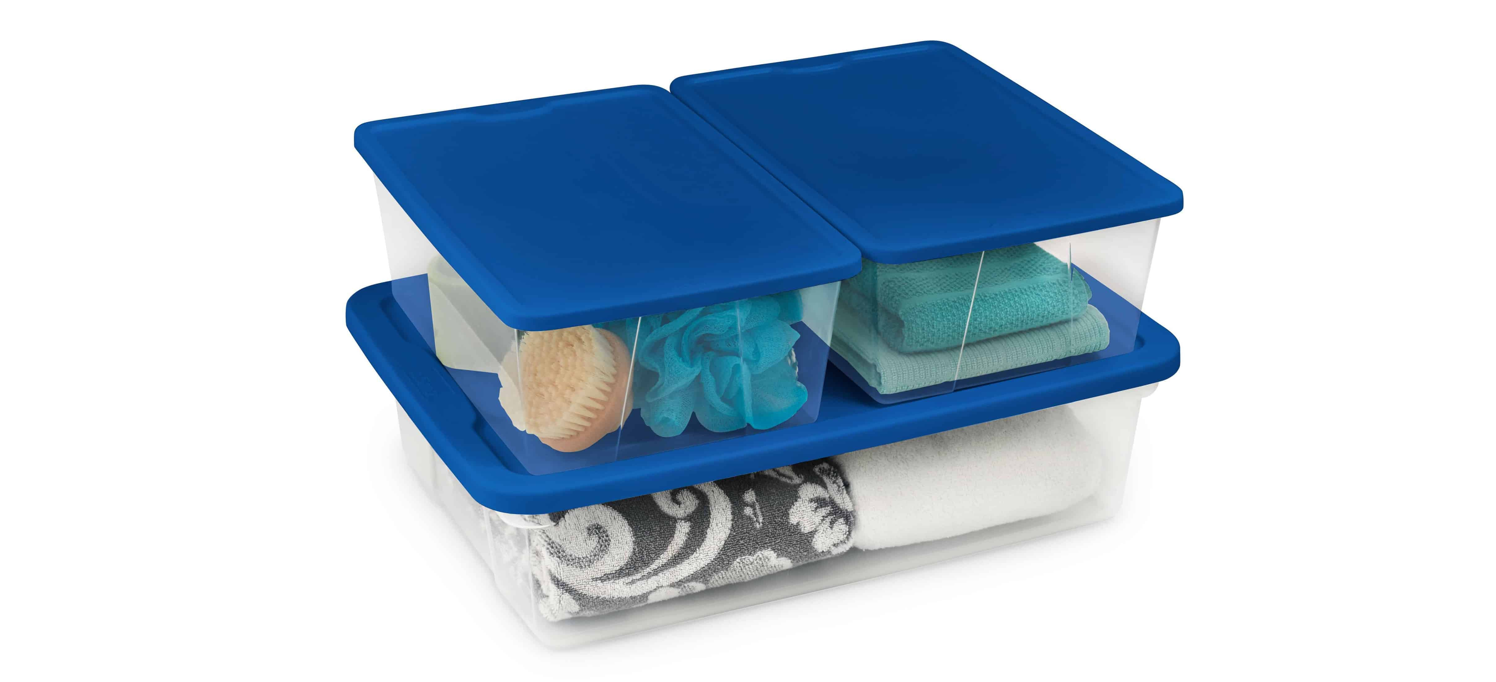 Organize Closets in Every Room with Clear Storage Totes