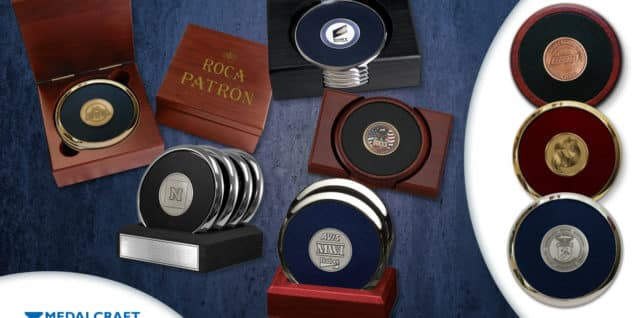 Medalcraft Mint custom medallion coasters
