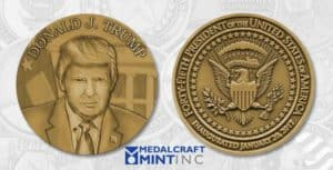 Trump inaugural medallion by Medalcraft Mint