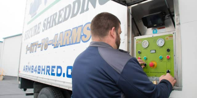 ARMS shredding services in Green Bay, Wisconsin