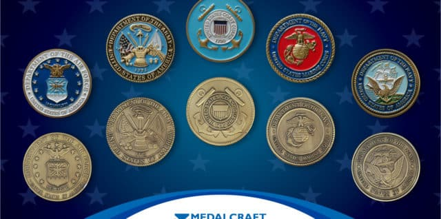 Medalcraft Mint custom military challenge coins