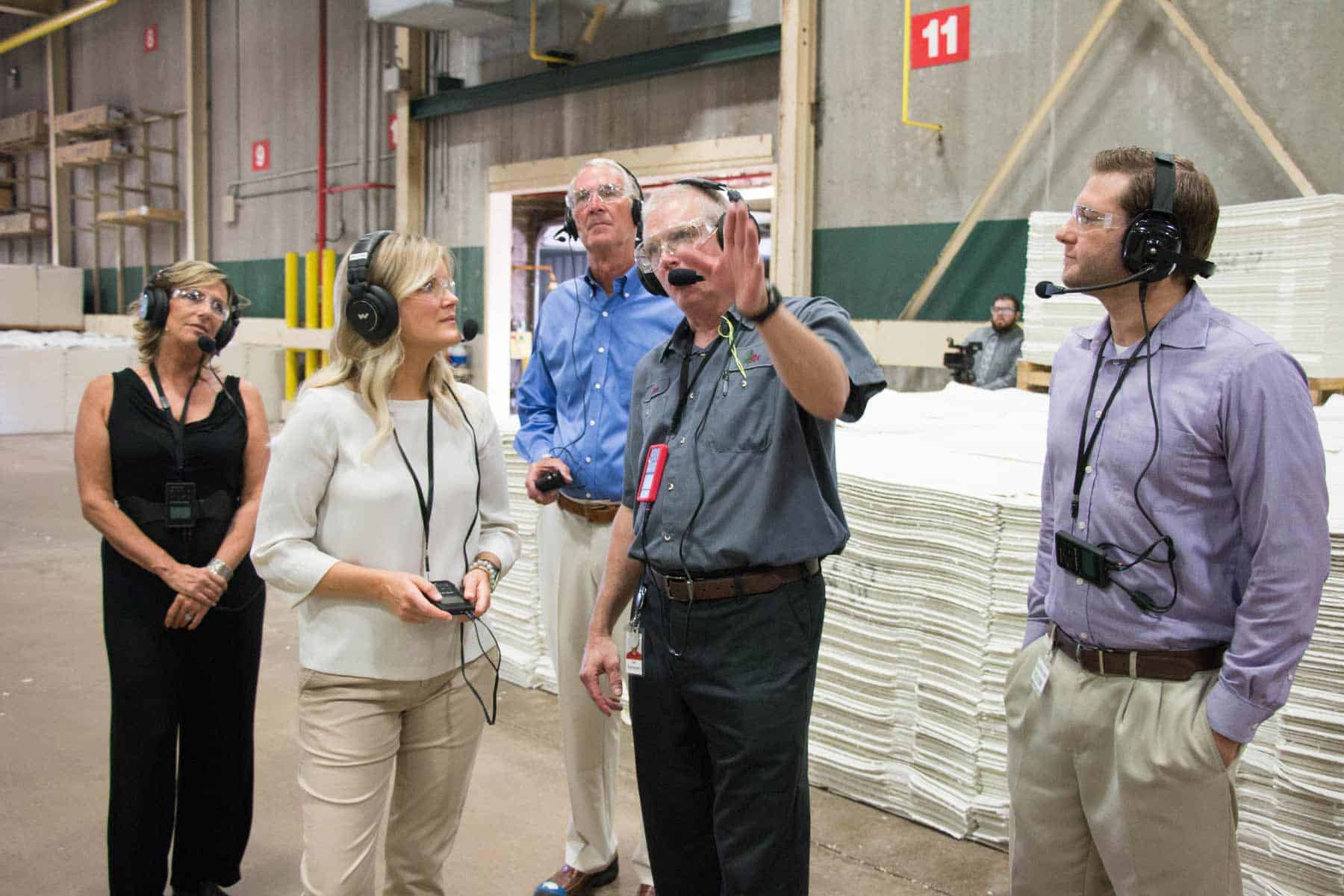 Factory Tour Headsets Provide Effective Group Audio Solutions