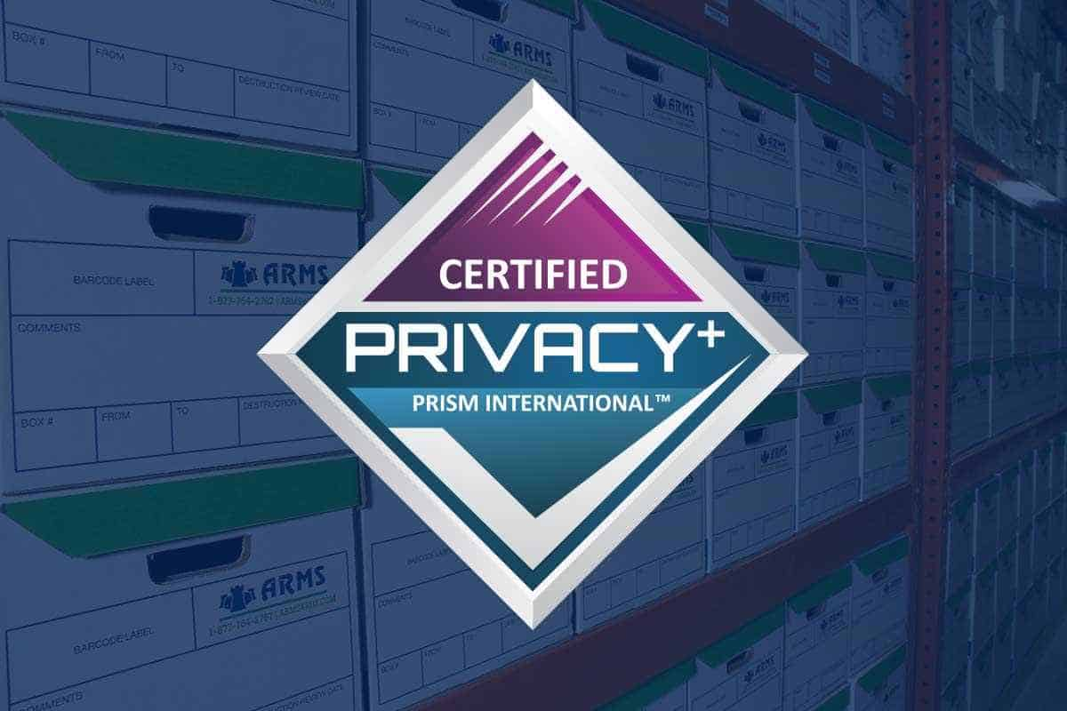ARMS Holds PRISM Privacy+ Certification