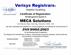 ISO Certification Affirms MECA Solutions' Quality Management System