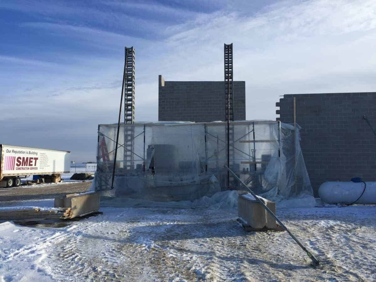 Cold Weather Can't Stop Winter Construction