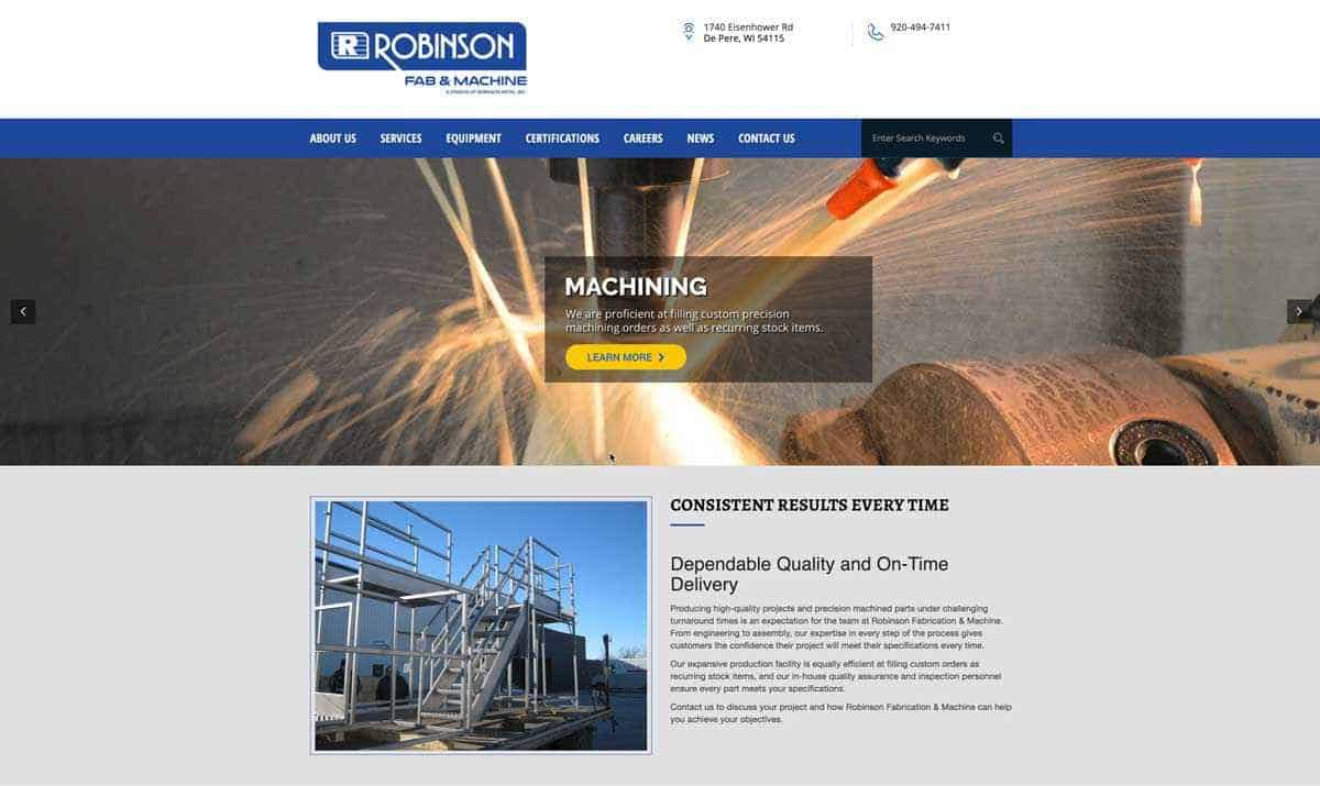 Robinson Fabrication & Machine Launches Its Own Dedicated Website