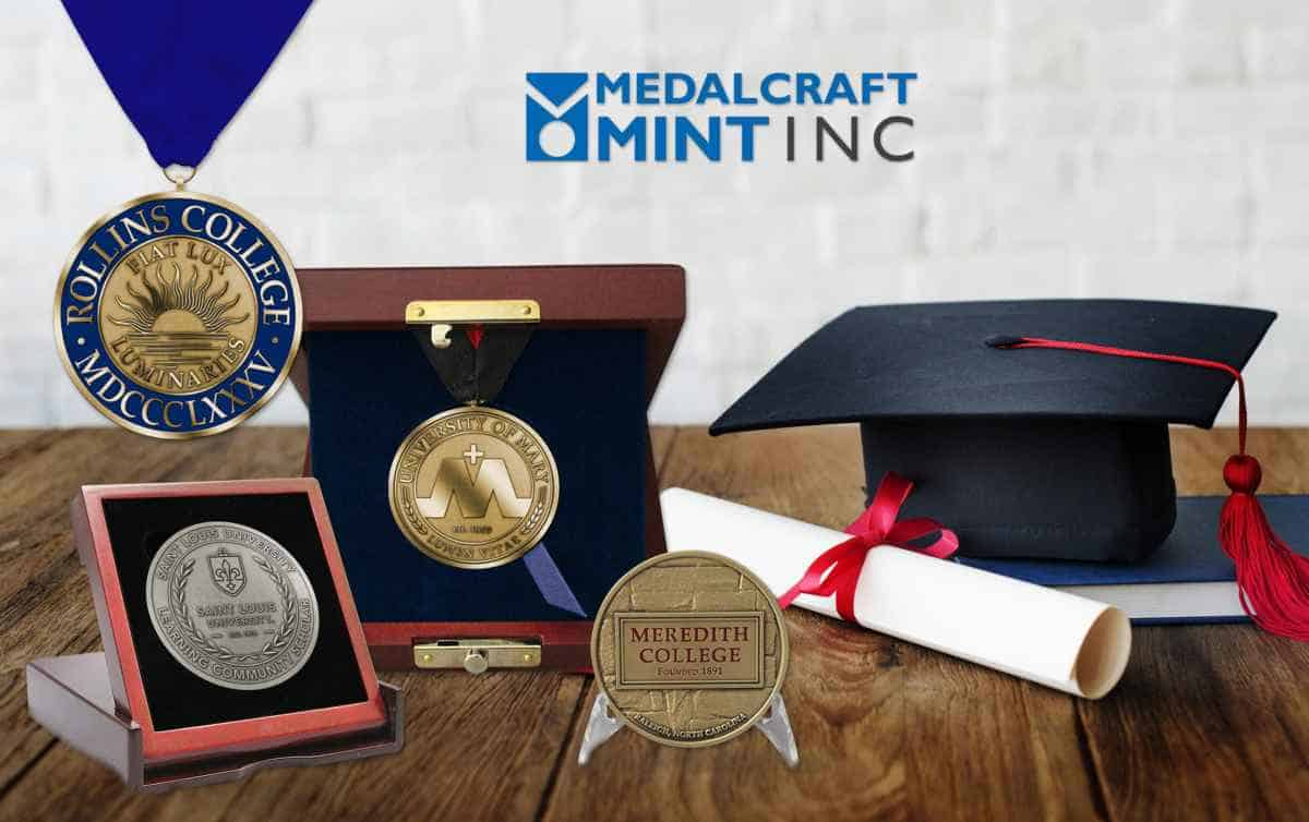 Custom graduation medals outshine generic awards