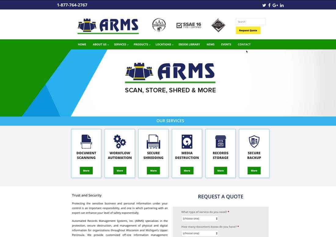 ARMS Inc. launches updated website with enhanced functionality