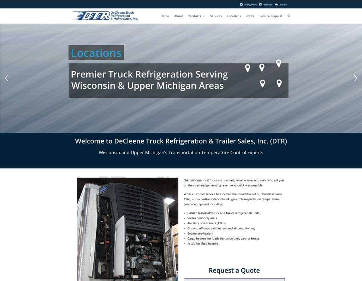 DeCleene Truck Refrigeration & Trailer Sales Releases Upgraded Website