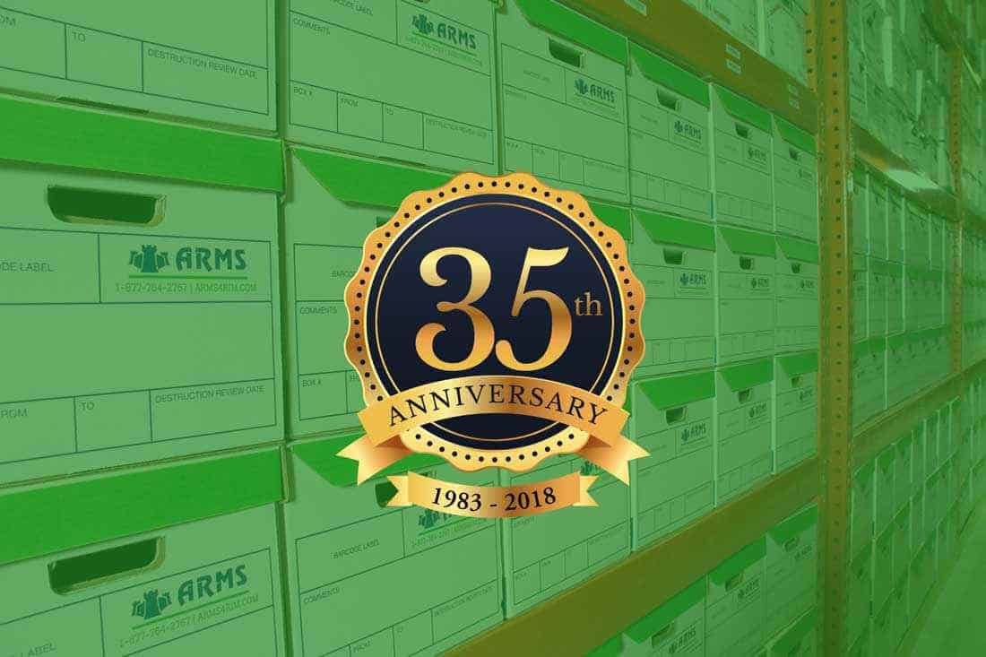 ARMS, Inc. celebrates 35 years in commercial records management