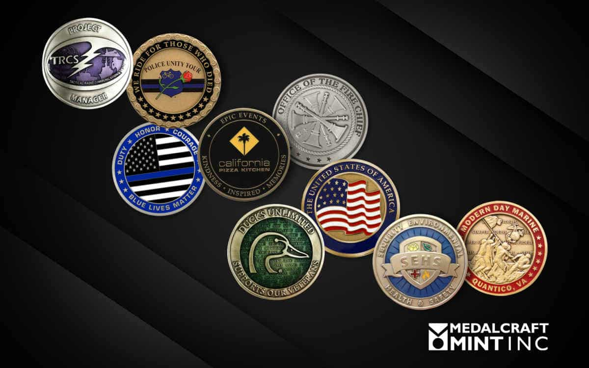 Challenge coin design provides a distinctive touch
