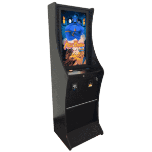 Ali Baba Plus machine features a 10-line game on a vertical monitor