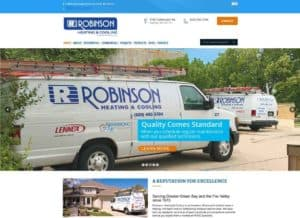 Robinson Heating & Cooling revises its website for easy viewing