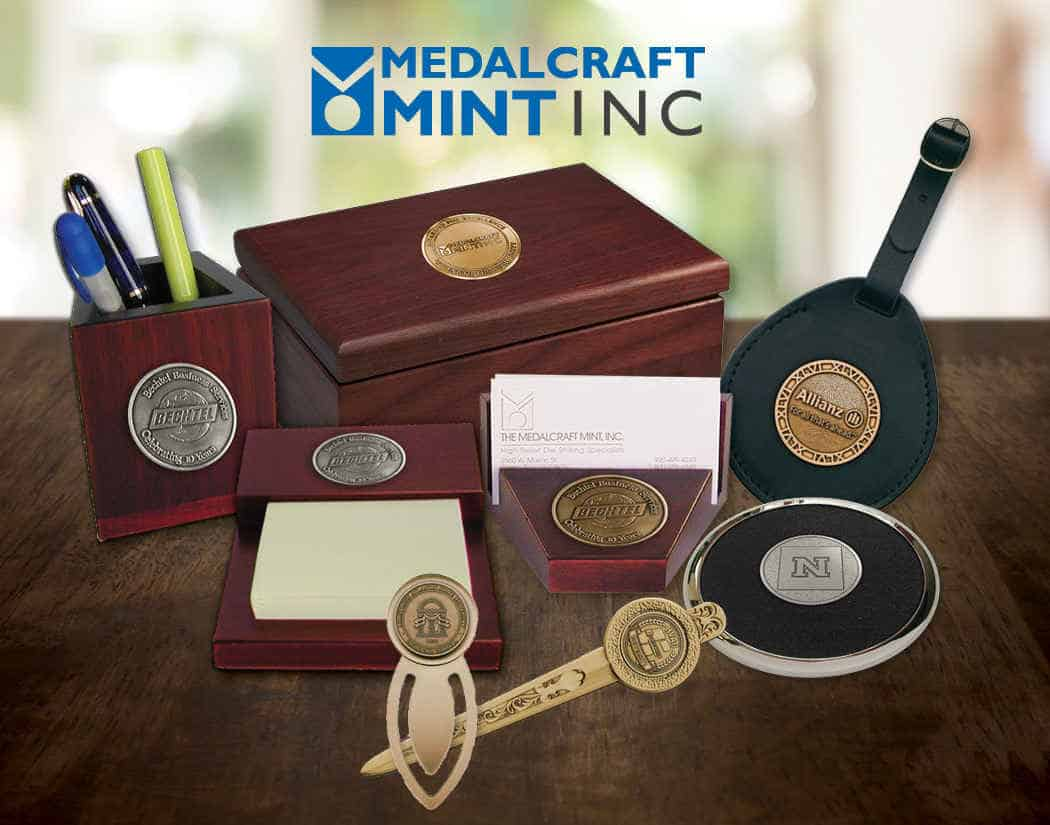 Medalcraft Mint offers high-quality executive desk gift options
