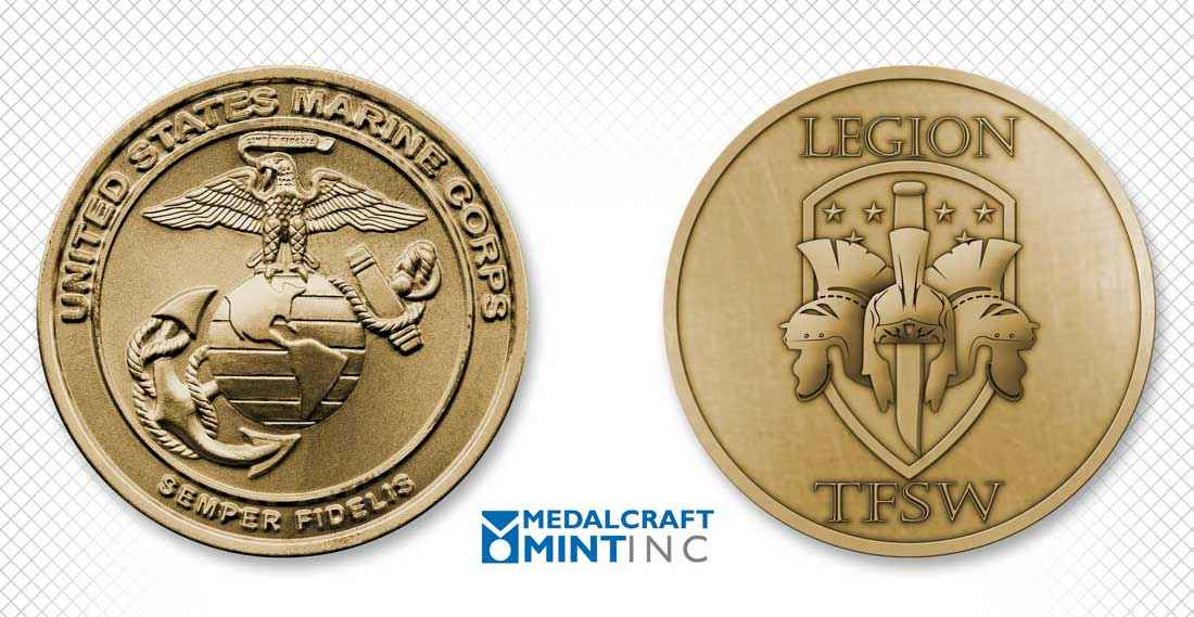 Custom military unit coins reinforce a sense of unity
