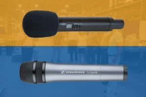 hand-held tour guide microphones