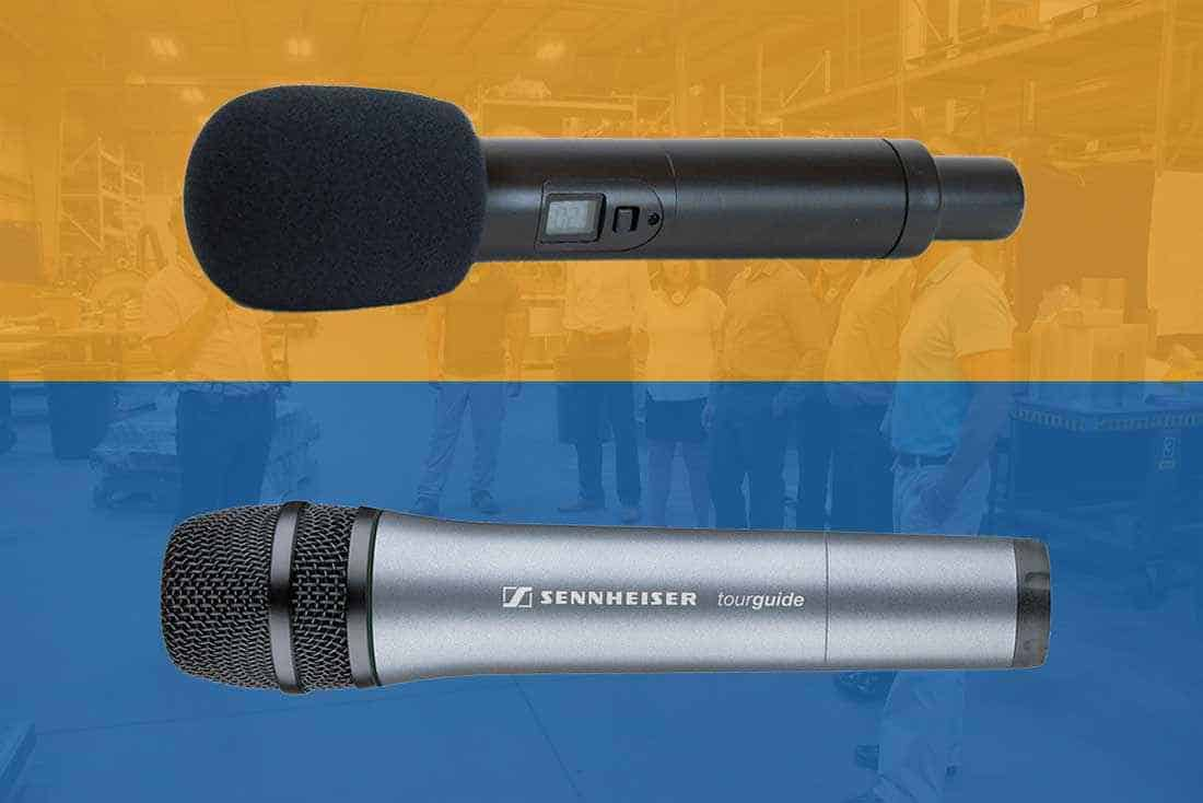 Hand-held tour guide microphones expand presentation capabilities