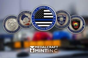 Police coins are popular keepsakes and trading collectibles