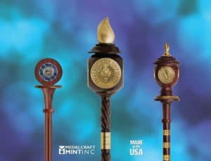 Collegiate mace is a traditional symbol of institutional excellence