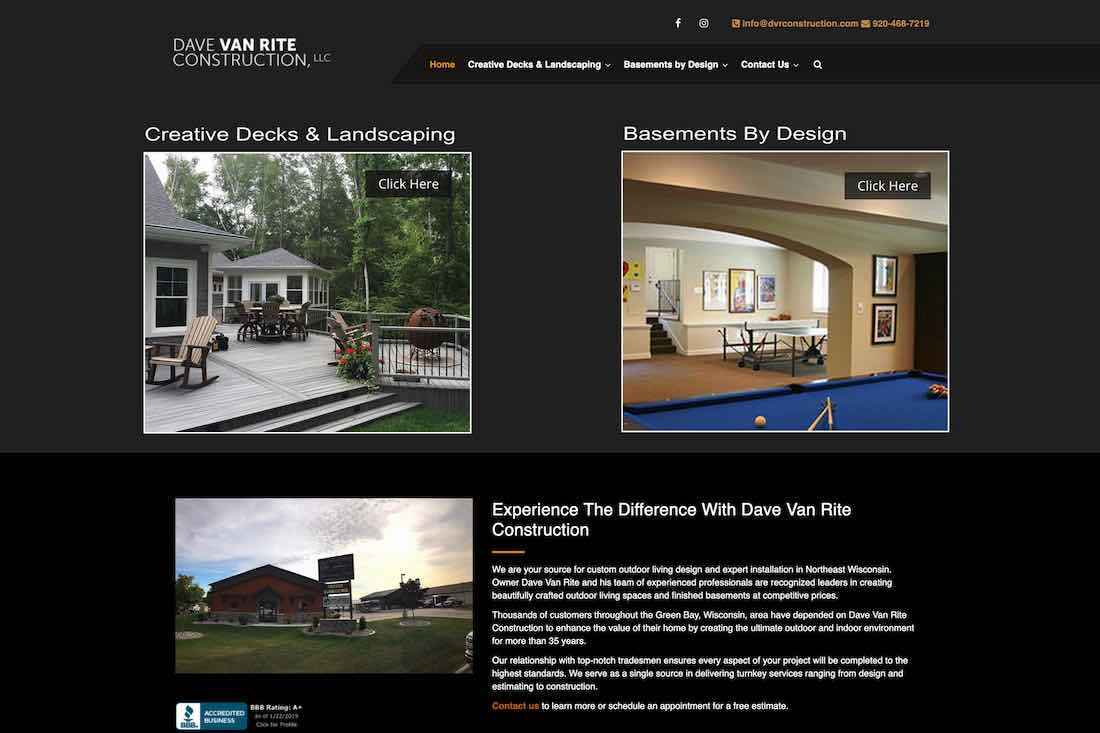 Dave Van Rite Construction, LLC, adds new area of expertise to service offerings