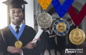 College graduation medals