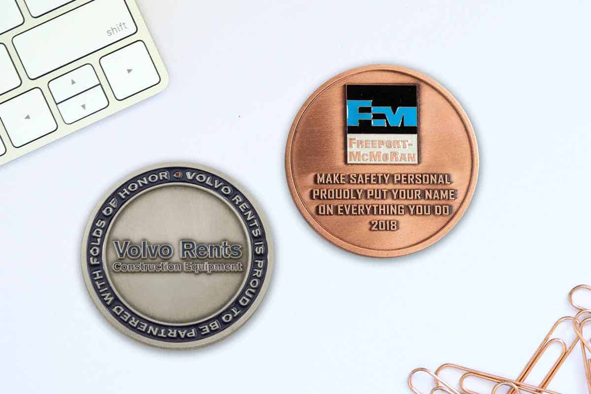 Custom business coins provide a tangible symbol of recognition