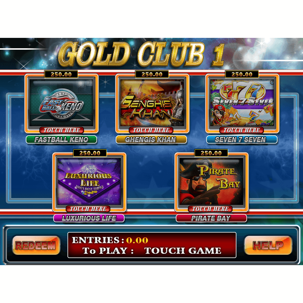 Gold Club 1 Multi Game by Trestle – Dual Screen is 5-in-1 fun