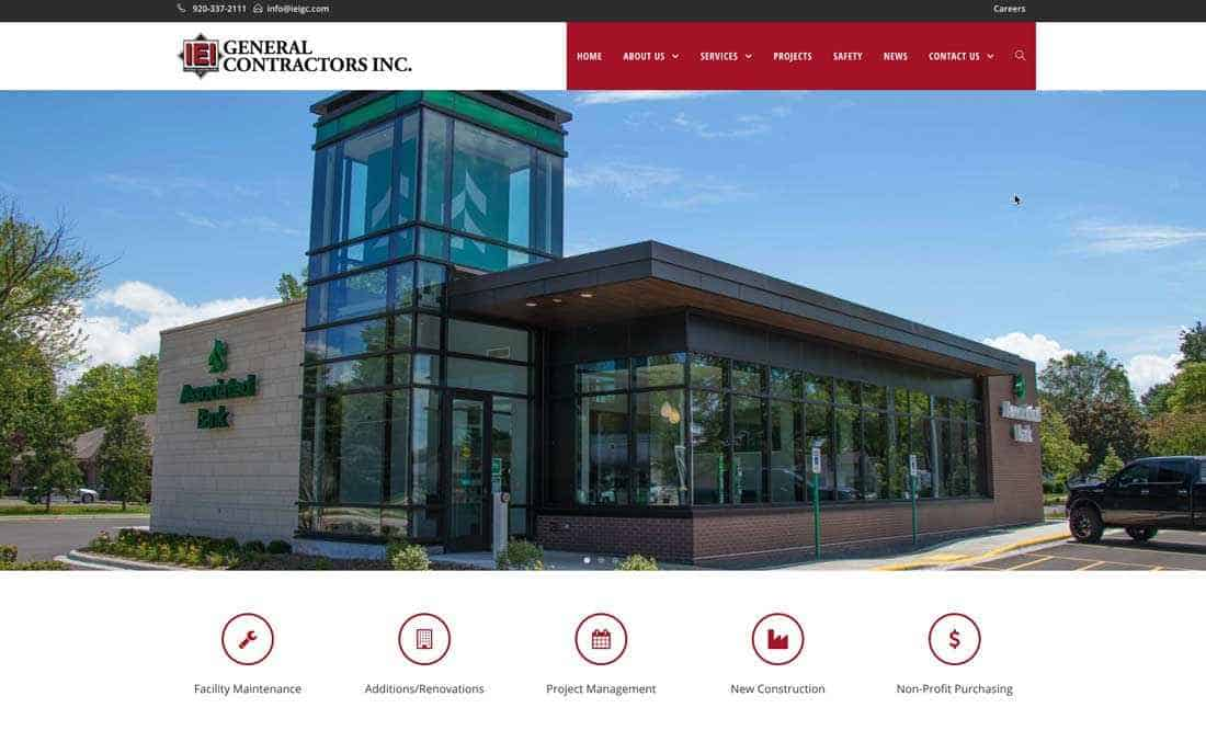 IEI General Contractors launches new website to feature client projects