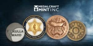high-quality award medals  by Medalcraft Mint