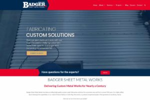 Badger Sheet Metal Works website update focuses on capabilities
