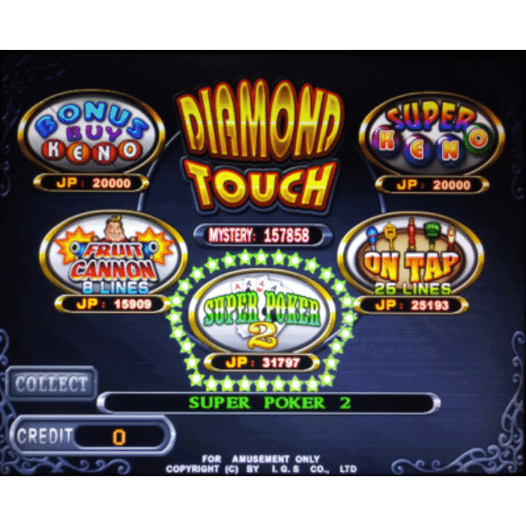 Diamond Touch by IGS features five games in one
