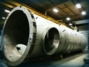 Large pressure vessel manufacturers must meet specific codes