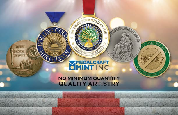 Quality artistry sets apart our large custom award medallion options