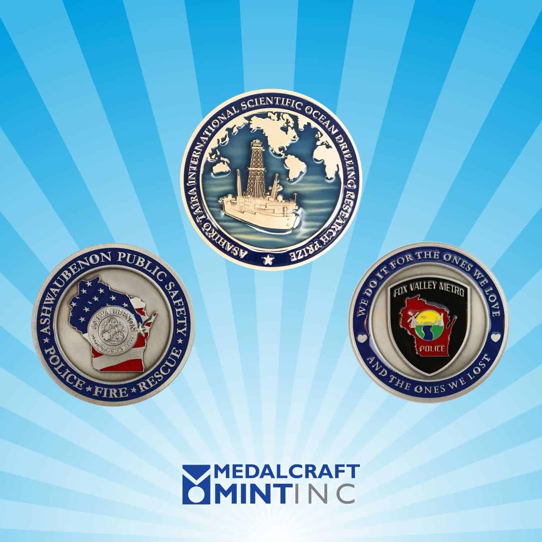 Enamel challenge coins are popular law enforcement medals