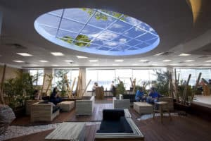 contemporary office remodel air