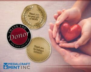 Custom medal design provides high-quality options for donor gifts