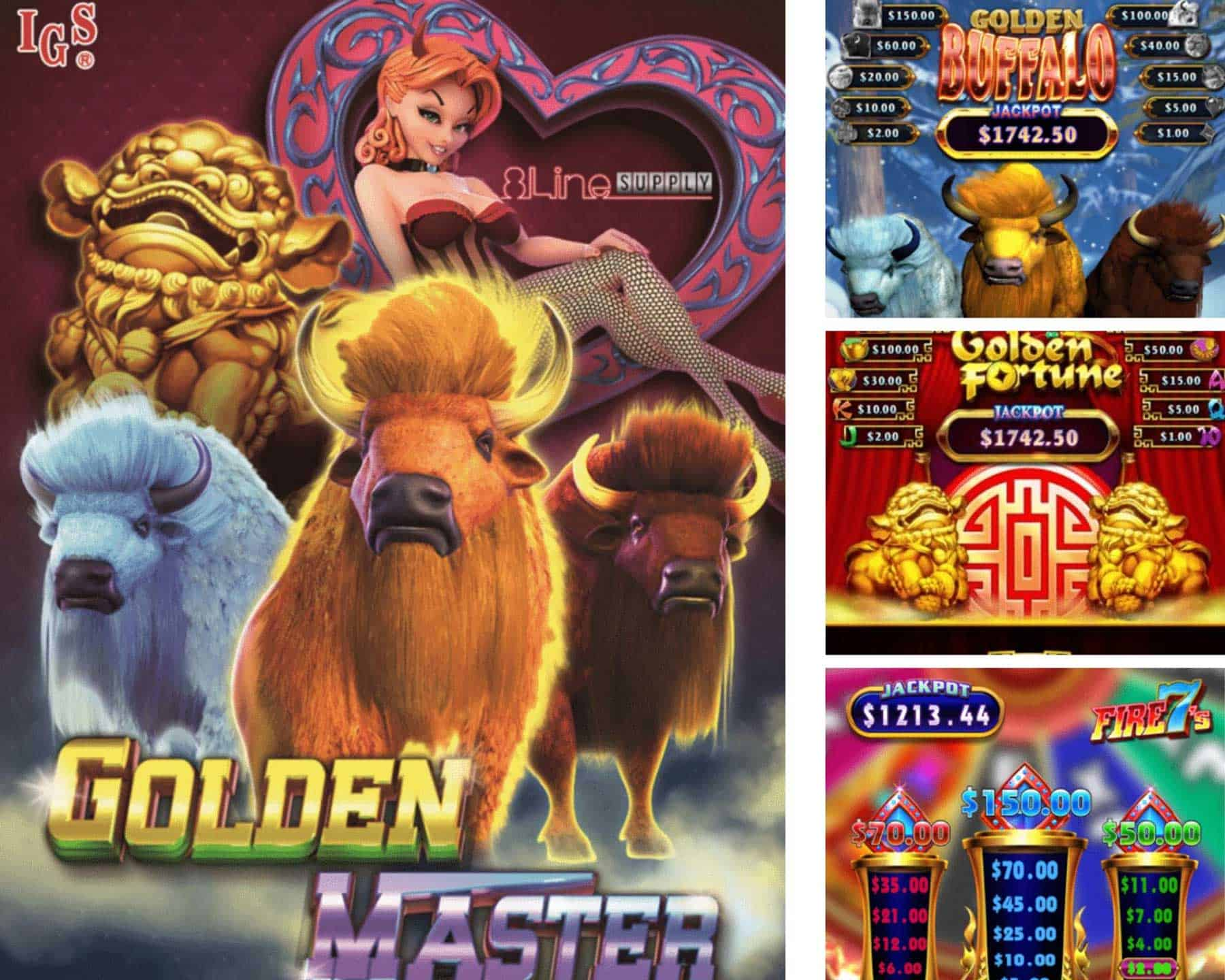 Golden Master by IGS offers three fun vertical skill games