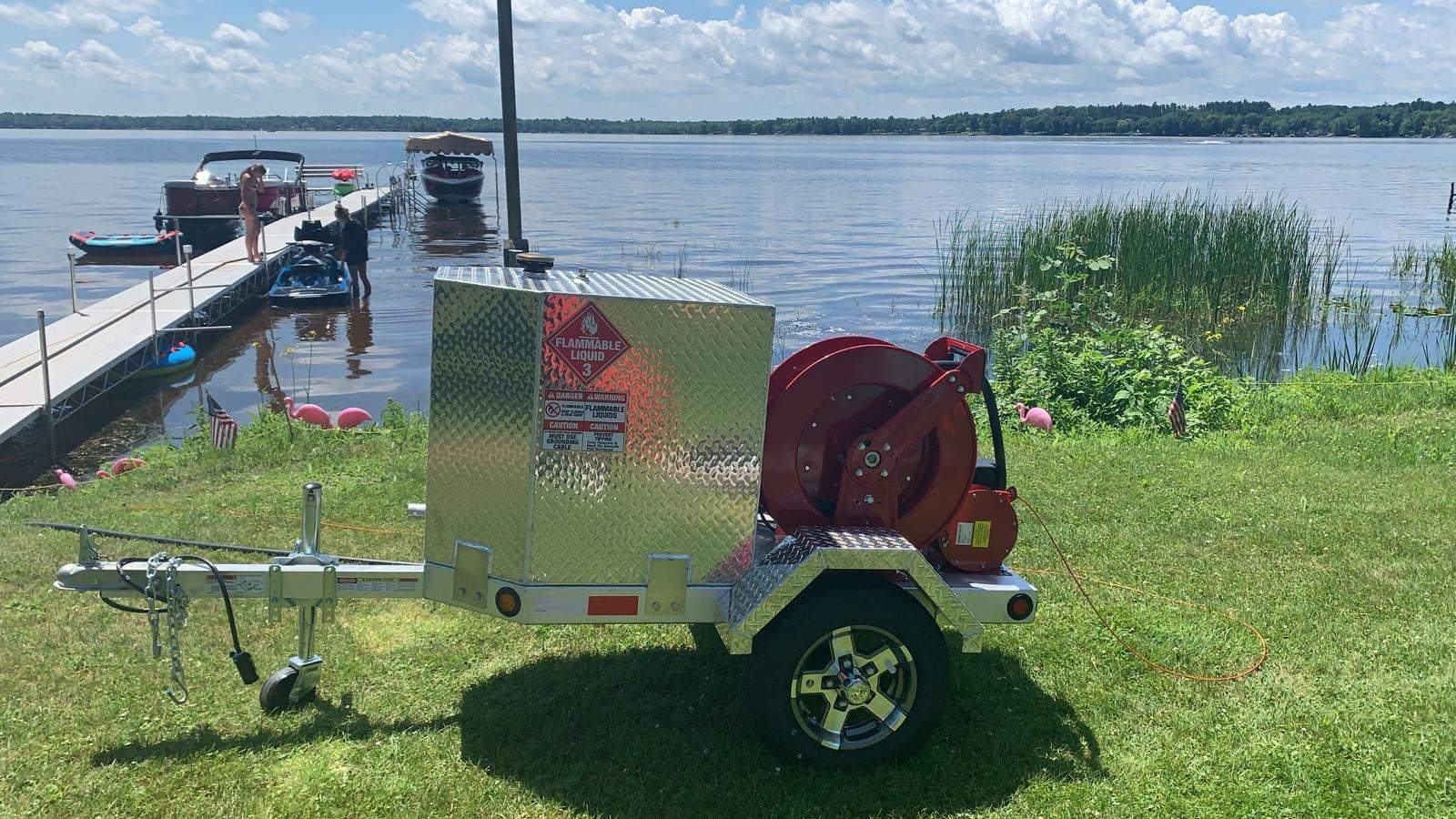 Robinson's new portable fuel trailer is a hit at the lake