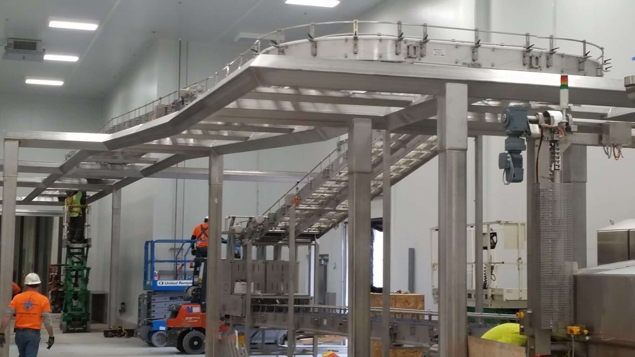 Robinson's sanitary conveyors help industrial customers stay clean