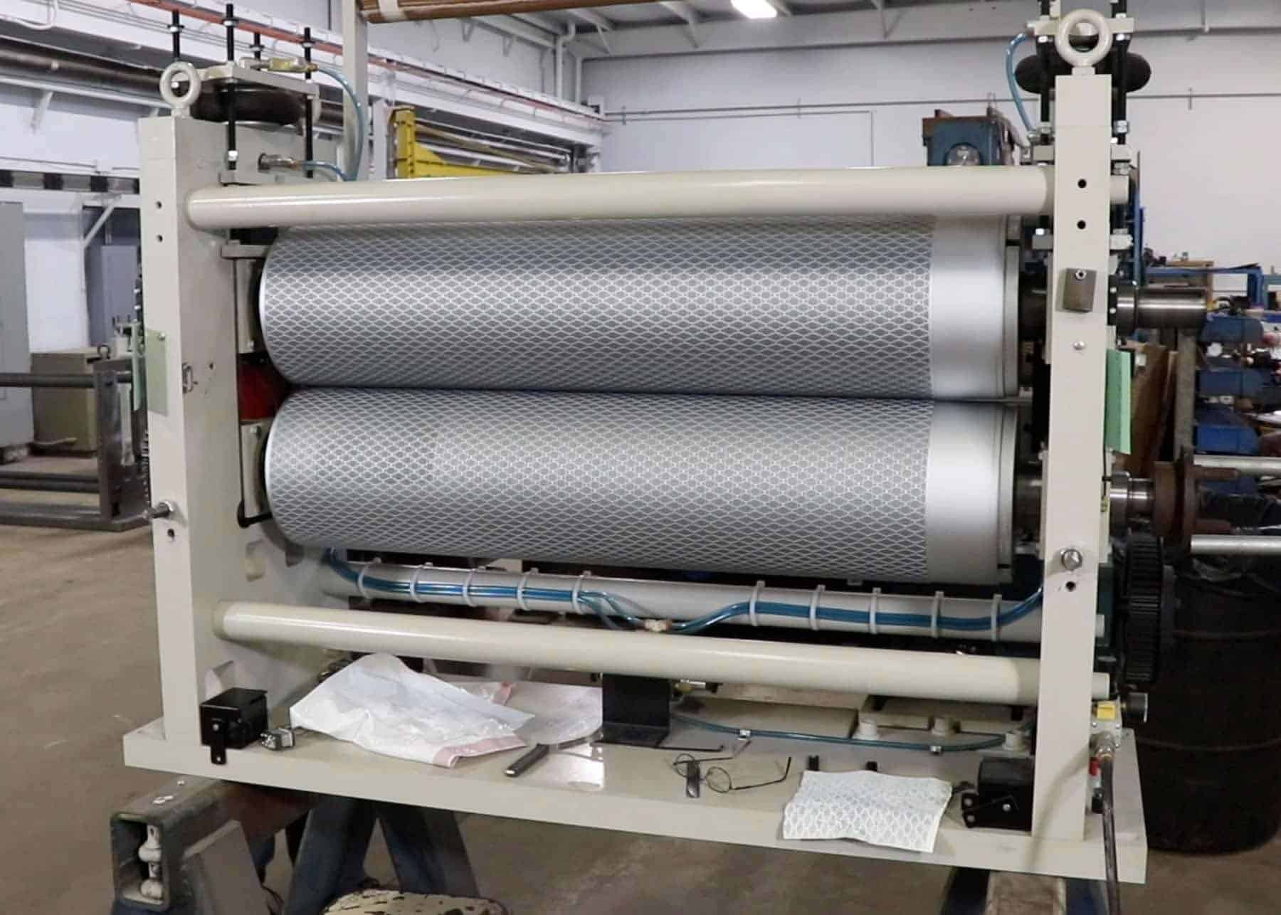 Embossed rolls enhance trash bag appearance and performance